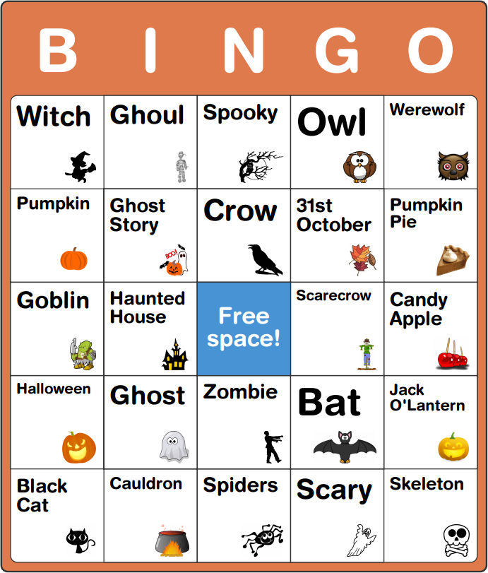 photo regarding Free Halloween Bingo Printable referred to as Absolutely free Halloween Bingo Playing cards for Young children - No Application or Signup