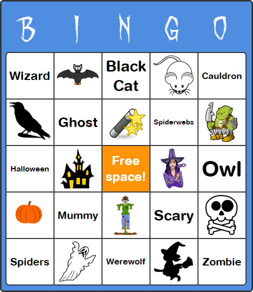 image about Free Halloween Bingo Printable titled Free of charge Halloween Bingo Playing cards for Children - No Program or Signup