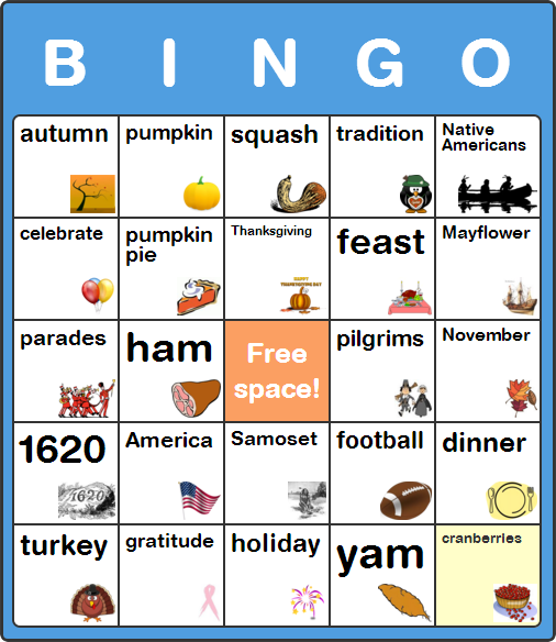 Thanksgiving Day Bingo Cards For Teachers Kids 100 Free