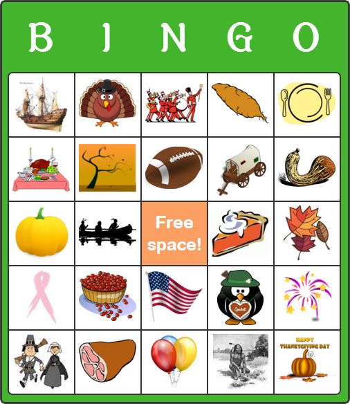 image regarding Free Printable Thanksgiving Bingo Cards called Absolutely free Thanksgiving Working day Bingo Playing cards for Youngsters - No Program or